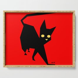 The Strut (Black Cat) Serving Tray