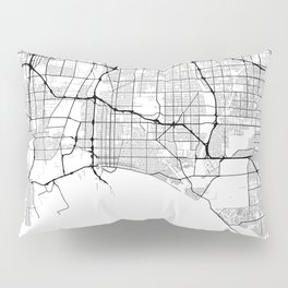 Minimal City Maps - Map Of Long Beach, California, United States Pillow Sham