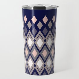 Diamonds in colors of pale rose and sand on dark background Travel Mug
