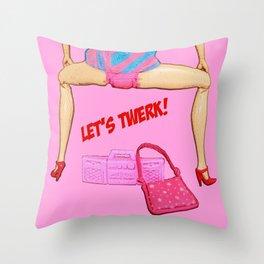 Let's Twerk! Funny Barbie Art! Throw Pillow