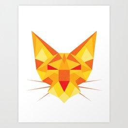 Geometricat Art Print