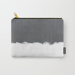 White Paint on Concrete Carry-All Pouch