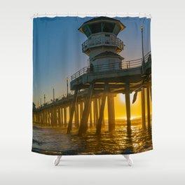 Seagull Photo Bomb Shower Curtain