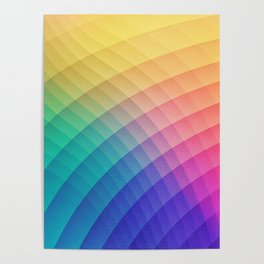 Spectrum Bomb! Fruity Fresh (HDR Rainbow Colorful Experimental Pattern) Poster