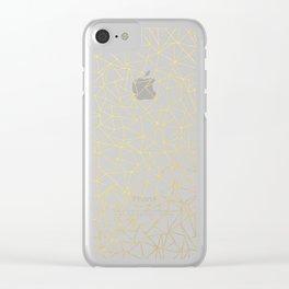 Geo Gold Clear iPhone Case