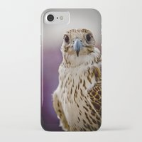 falcon iPhone & iPod Cases featuring Falcon  by Bader Al Awadhi