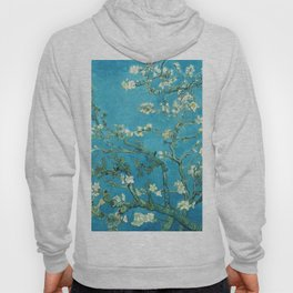 Vincent van Gogh Blossoming Almond Tree (Almond Blossoms) Light Blue Hoody