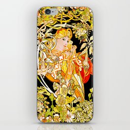 Marguerite's Bower, Mucha iPhone Skin