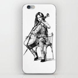 Cellist. Виолончелистка. iPhone Skin