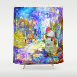 Be Happy in New 2016 Year ! Shower Curtain