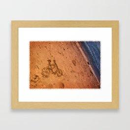 sand bicycle Framed Art Print