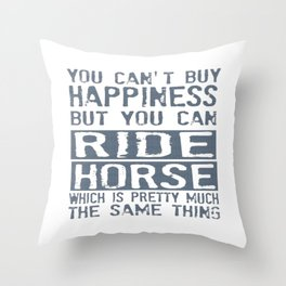 RIDE HORSE Throw Pillow