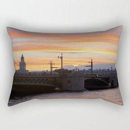 Sunset over the Neva River Rectangular Pillow