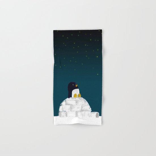 Star gazing - Penguin's dream of flying Hand & Bath Towel