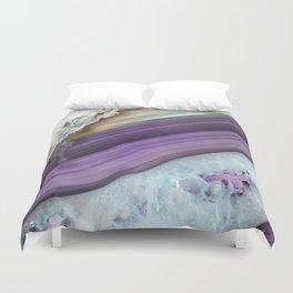 Purple Agate Slice Duvet Cover
