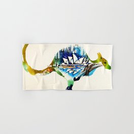 Australia City Skyline Vintage Travel Love Watercolor Hand & Bath Towel
