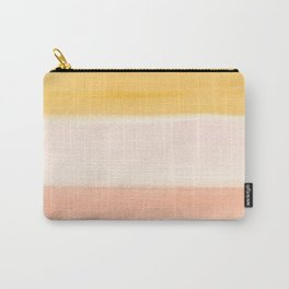 Peach Watercolor Sunrise Carry-All Pouch