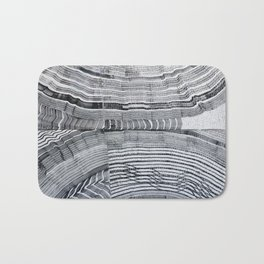 Streetart in Gray Concentric shapes Bath Mat