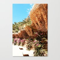 barcelona Canvas Prints featuring Barcelona by Miss chOc-l4te