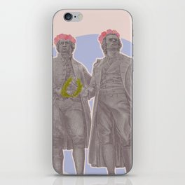 Poets and Thinkers and Flowers iPhone Skin