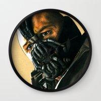bane Wall Clocks featuring BANE by csmithart