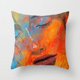 Digital Pain Throw Pillow