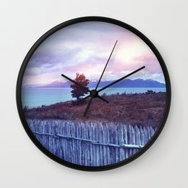 Sunset and lone tree Wall Clock