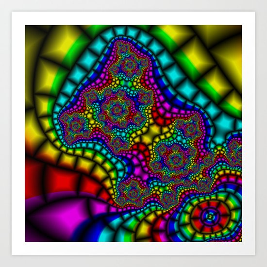 Colour Adour Art Print