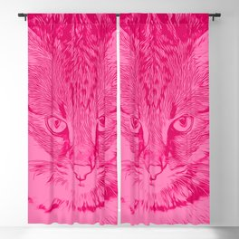 savannah cat portrait vapp Blackout Curtain