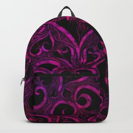 Tendrils of Love xoxo Pink and purple Backpack