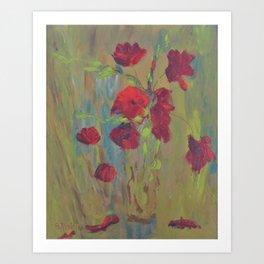 Modern Poppies Art Print