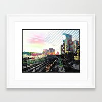 san diego Framed Art Prints featuring San Diego  by Jennifer Silcott