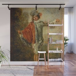 """Antoine Watteau """"L'indifferent (The Casual Lover)"""" Wall Mural"""
