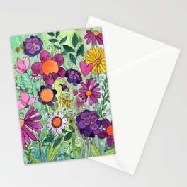Purple Plum Parfait Stationery Cards