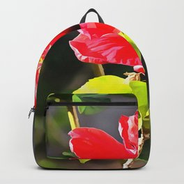 Beautiful Red Tropical Hibiscus Flower Backpack