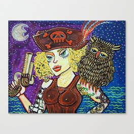 Pirate Quest For The Golden Owl Canvas Print