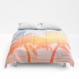 Tropicana seas - sundown Comforters
