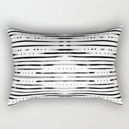 B&W Shibori #society6 #shibori Rectangular Pillow