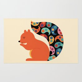 Paisley Squirrel Rug