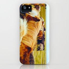 Huddle of Horses iPhone Case