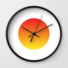 Abstract Sun Wall Clock
