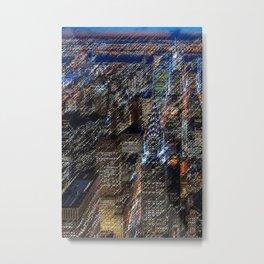 Midtown Manhattan Skyline Landscape Painting by Jéanpaul Ferro Metal Print