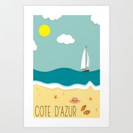 Cote d'Azur Art Print
