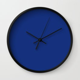 Solid Bright Lapis Blue Color Wall Clock
