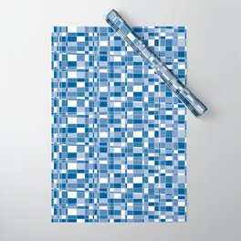 Mod Gingham - Blue Wrapping Paper