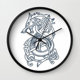 Viking Dragon, Norse Style, Vikings Warriors Wall Clock