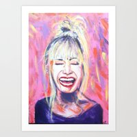 allyson johnson Art Prints featuring Betsey Johnson by AntiPosi