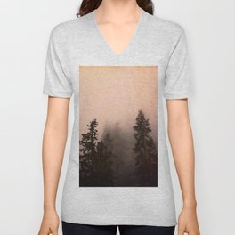 Deep in Thought - Forest Nature Photography Unisex V-Neck