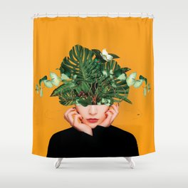 Lady Flowers    Shower Curtain
