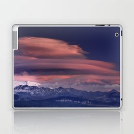 Lenticular clouds. Alayos mountains at sunset. Laptop & iPad Skin